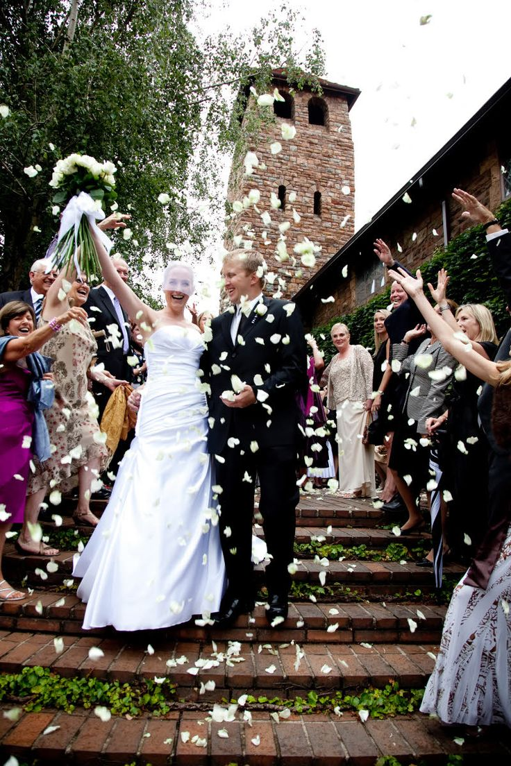wedding send off ideas wedding send off ideas Ceremony exit with white rose petals photo by South Africa based wedding photographer