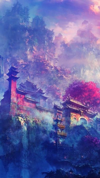 Asian Village In The Mountains Fantasy #iPhone #5s #Wallpaper   iPhone 5(s) Wallpapers ...