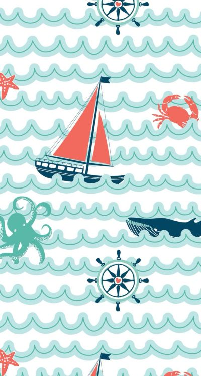 25+ best ideas about Nautical Wallpaper on Pinterest | Vintage nautical bathroom, Nautical bed ...