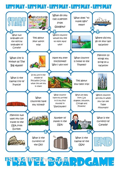 Board games, Worksheets and Travel on Pinterest