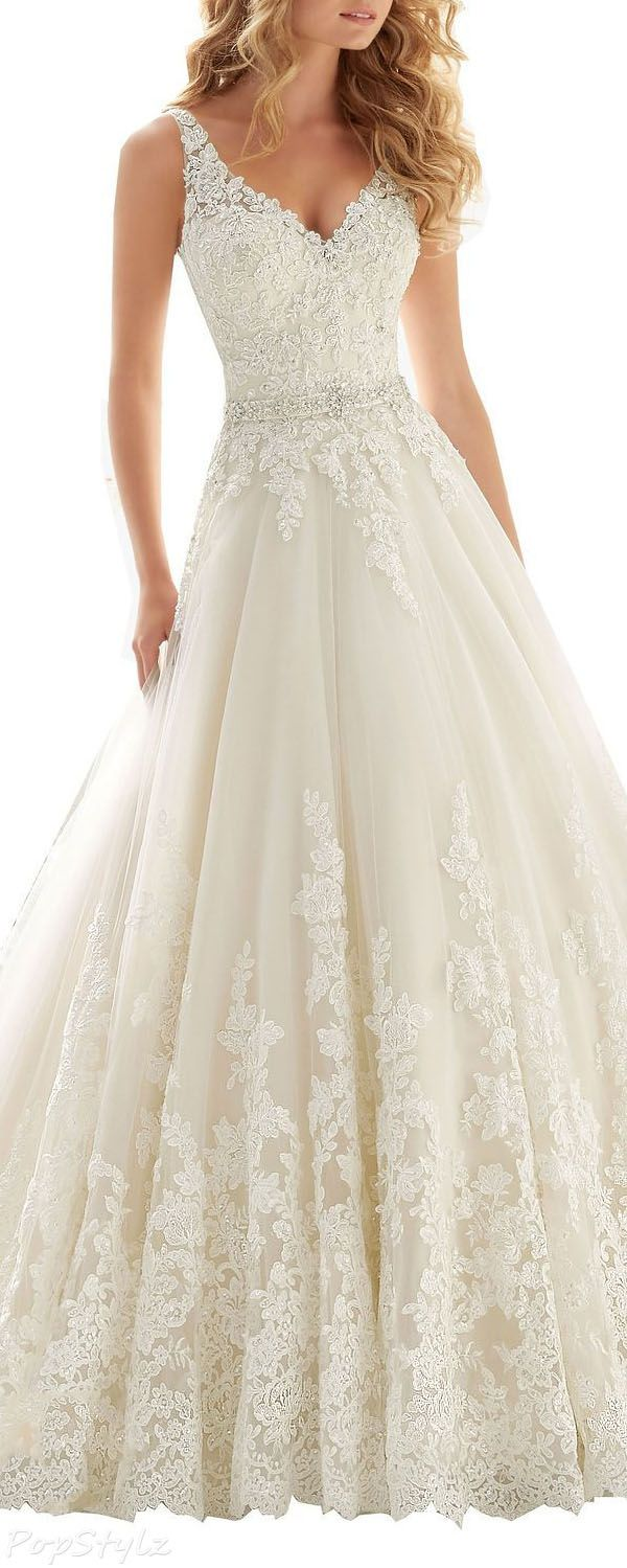 white lace wedding dress wedding dresses with lace Kittybridal Beaded Lace Wedding Dress with Chapel Train