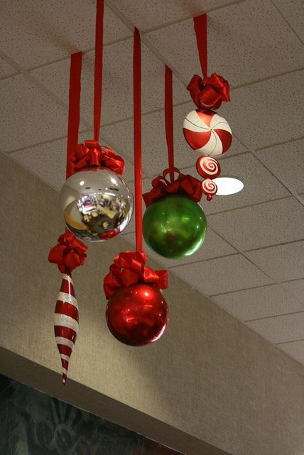 large shaped christmas decorations in the office pre party excitement for u