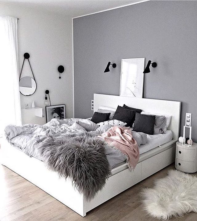 teen bedroom retro design ideas and color scheme bedding wall decor white bed black furniture