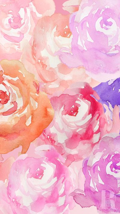 roses wc | Screen Savers | Pinterest | Watercolour, iPhone wallpapers and Watercolor rose