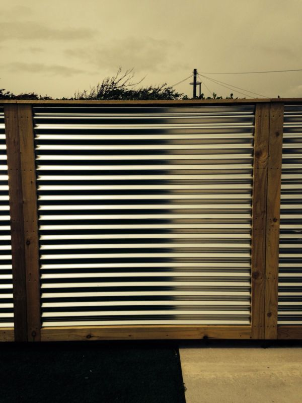 Modren Sheet Metal Fence Corrugated Panels Throughout Inspiration