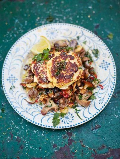 Ricotta & Parmesan fritters | Recipe | Garlic mushrooms, Almond flour and Parmesan