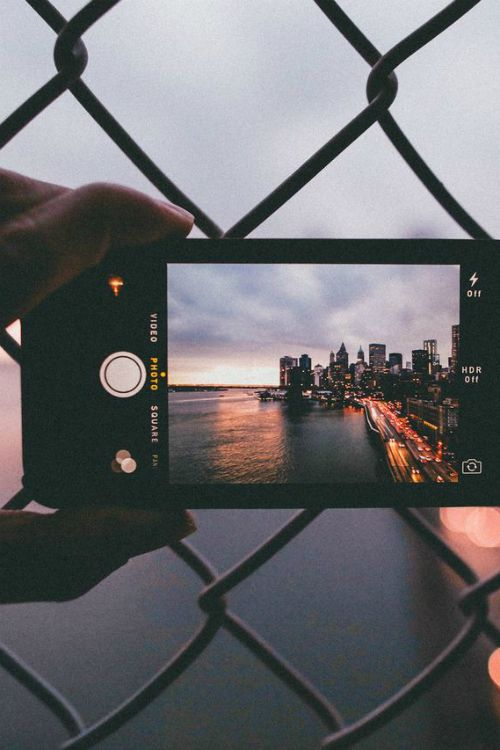 A must do, take a picture of the phone taking the picture. The shot is on the phone screen and the rest is showing the real perspective