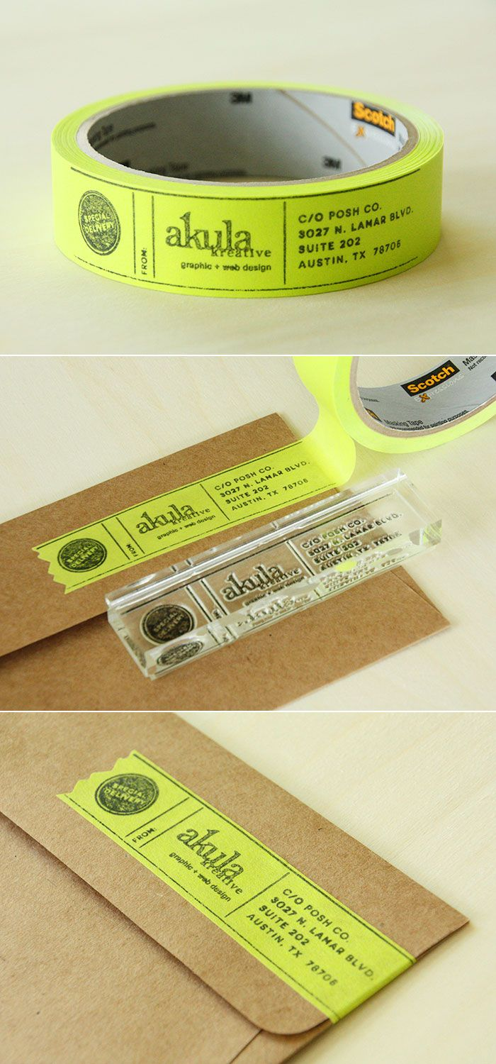 address labels wedding address labels Stamp on colored masking tape using an address stamp or any stamp you want