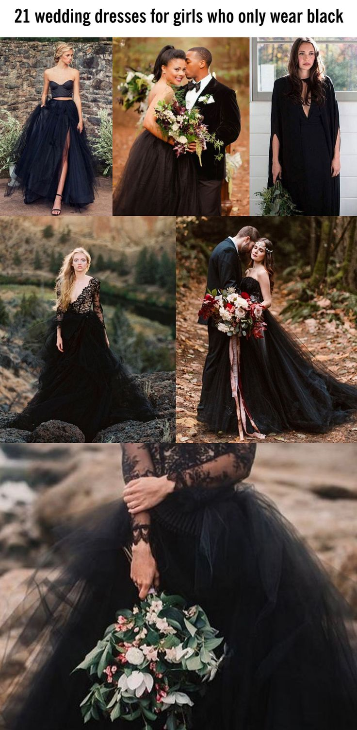 black weddings black wedding dress Beautiful black wedding dress ideas