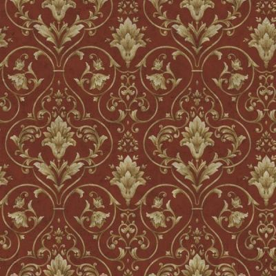 WALLPAPER SAMPLE Red and Gold Victorian Scroll | Victorian, Wallpaper samples and Red