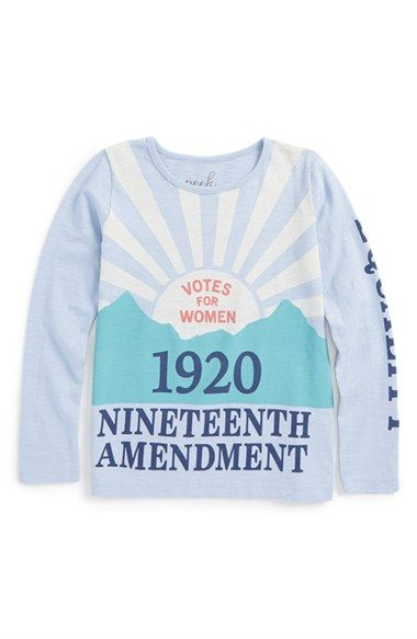 Peek+'19th+Amendment'+Tee+(Toddler+Girls,+Little+Girls+&+Big+Girls)+available+at+#Nordstrom:
