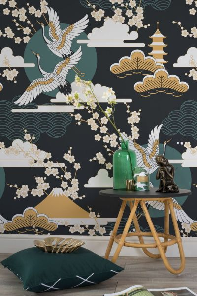 25+ best ideas about Oriental wallpaper on Pinterest | Chinese wallpaper, Asian interior and ...