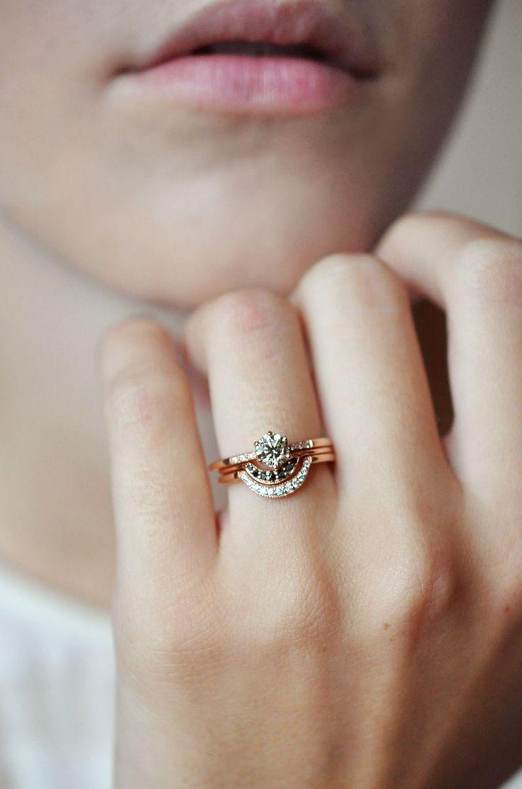 indie wedding rings workout wedding rings Half moon band