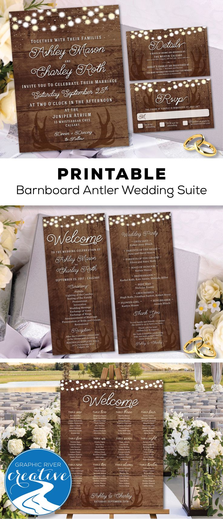 affordable wedding invitations affordable wedding invitations Graphic River Creative Etsy Printable Invitations We customize You Print Easy Affordable Affordable Wedding