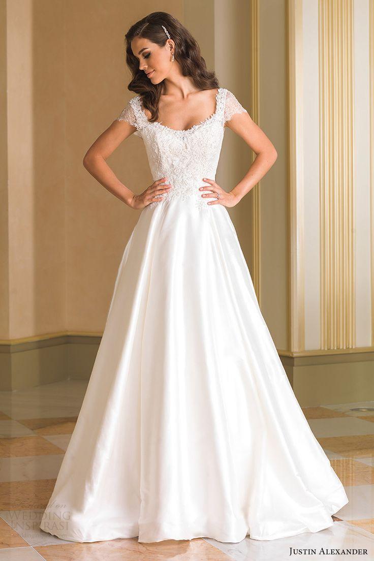 justin alexander bridal aline wedding dress Justin Alexander Fall Wedding Dresses