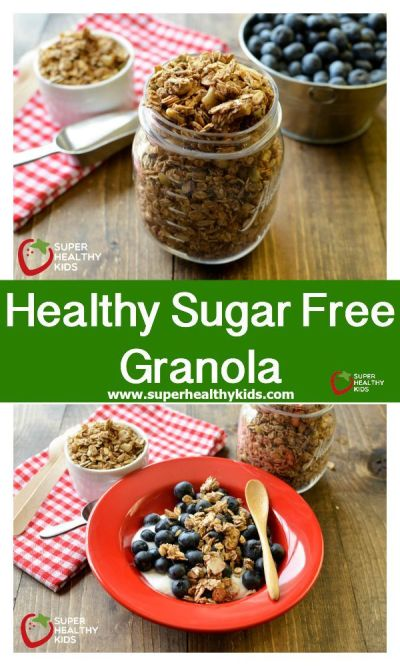 Healthy Sugar Free Granola | Recipe | Kid, We and Gluten