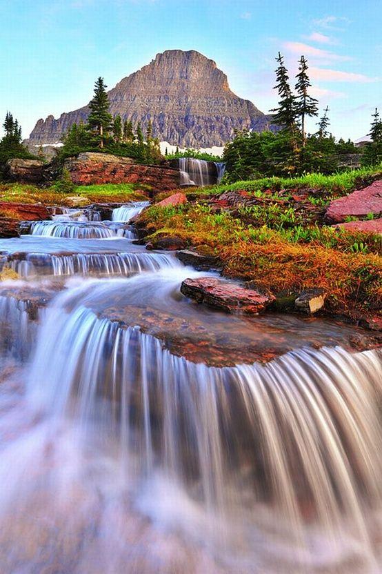 Waterfall, Glacier National Park: