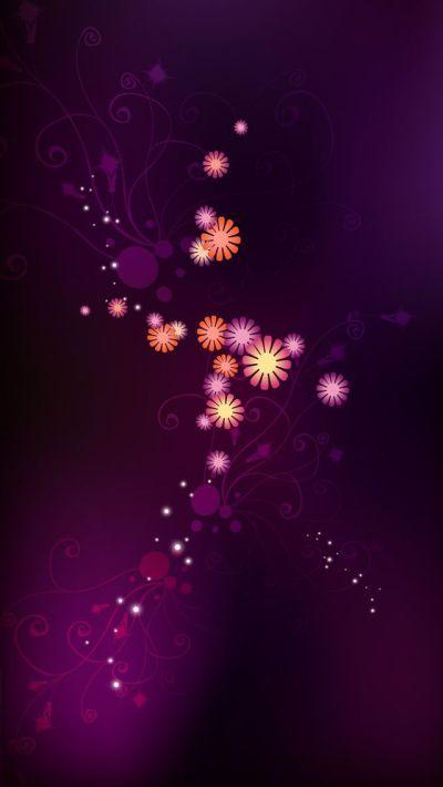 Abstract purple flowers #iPhone #5s #Wallpaper   http://www.ilikewallpaper.net/iphone-5 ...