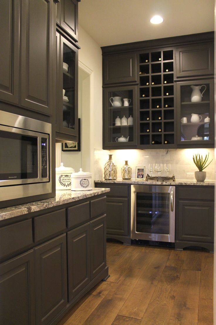 kitchen wine racks kitchen wine cabinet Cube wine rack and wine refrigerator in Umber gray by Burrows Cabinets burrowscabinets com