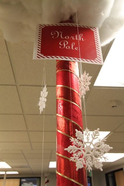 office christmas pole decorating contest ok we donu0027t have any poles in ouru2026 decorations for