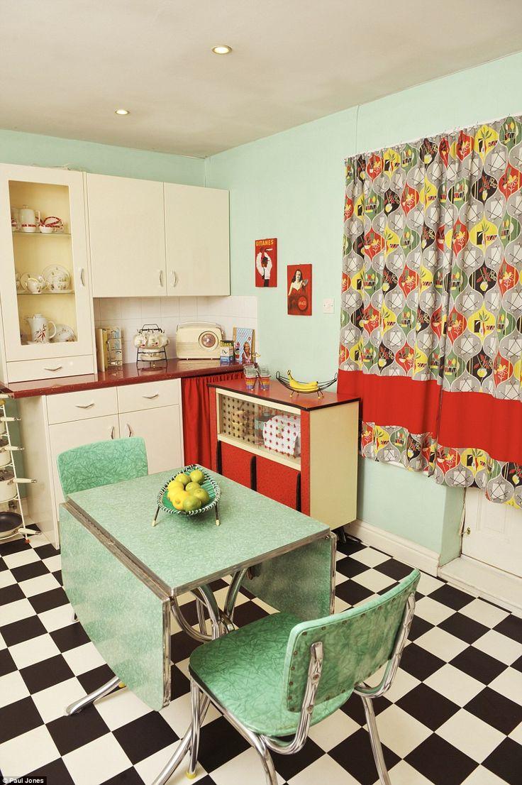 s kitchen s kitchen table Women who turned their homes into shrines to their favourite decade Retro Kitchen DecorRetro Kitchenss