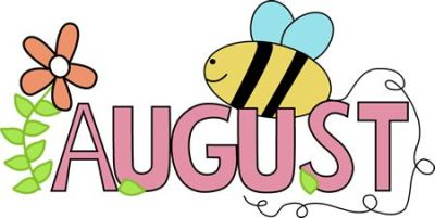 Free Month Clip Art | Month of August Summer Clip Art Image - the word August in pink ...