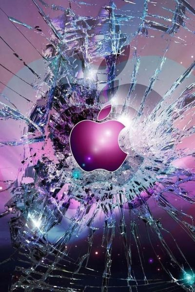 8 best images about Apple!!!!!! on Pinterest | Shattered glass, Signs and Black n white