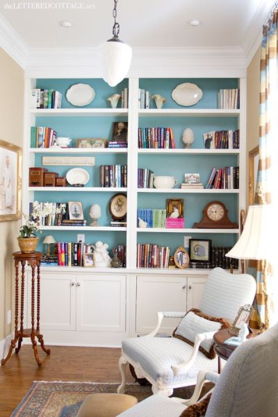 Cottage Library | Study | The Lettered Cottage | Bookcases | Bookshelves | Bookcases | Pinterest ...