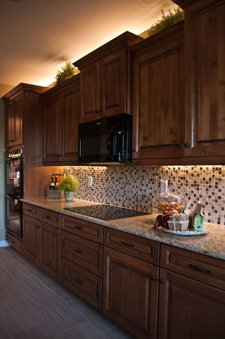inspired led around the home and business under kitchen cabinet lights Inspired LED lighting in traditional style kitchen warm white LEDs under cabinet above crown