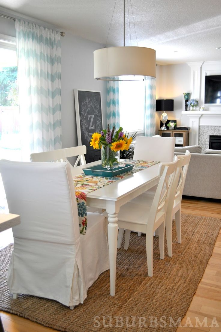 white dining rooms white kitchen chairs White Dining Room Ikea dining table and chairs