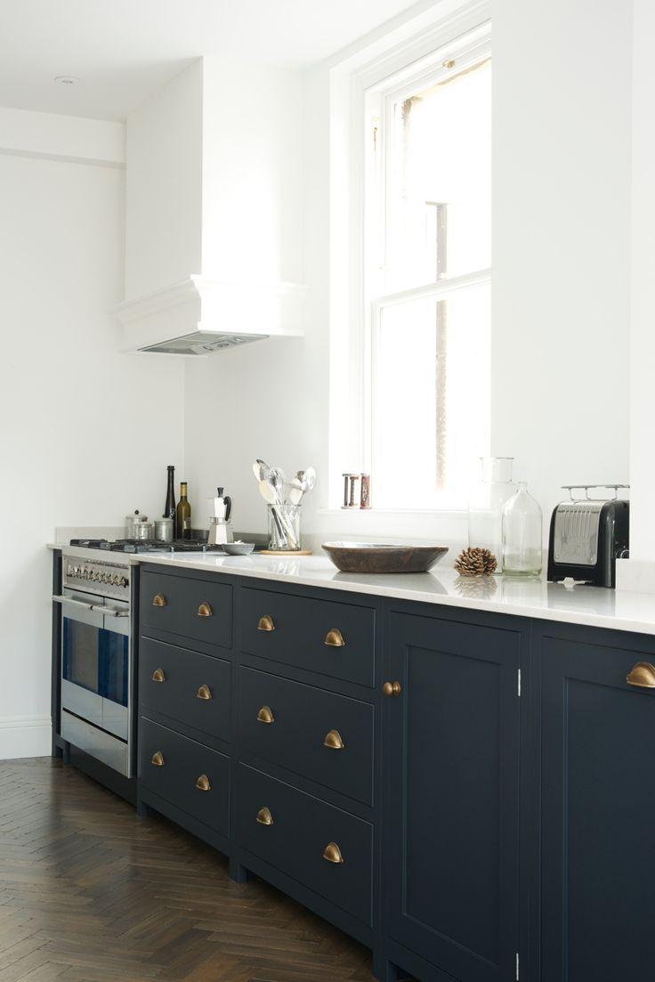 shaker kitchen blue cabinets kitchen deVOL Shaker Kitchen Bath deVOL blog