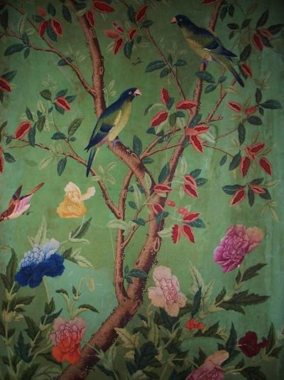 17 Best ideas about Bird Wallpaper on Pinterest | Powder rooms with chinoiserie inspired ...