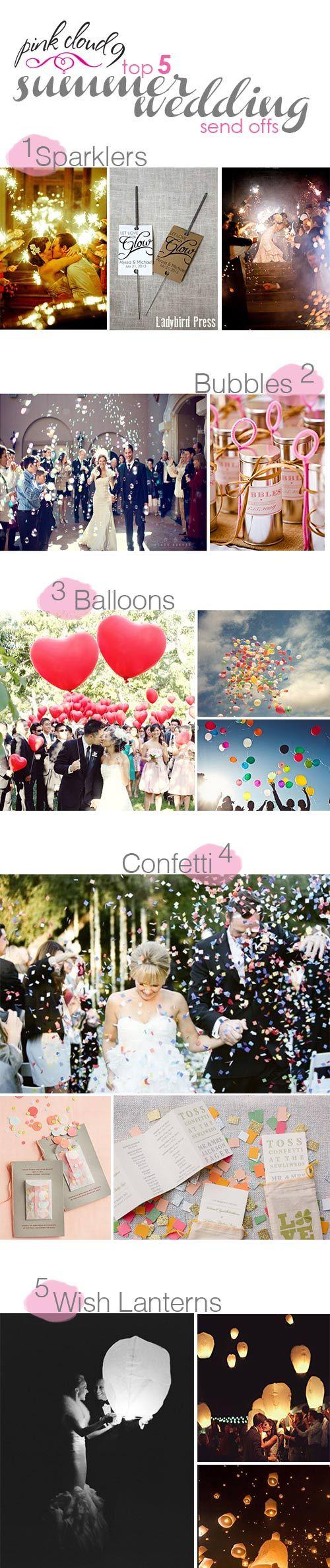 wedding send offs wedding send off ideas summer wedding send offs PINK CLOUD 9 use www customweddingprintables com for