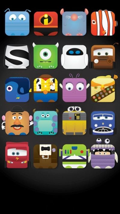 Disney Characters icon frame iPhone 5 wallpaper - Cute! | iPhone 5 Wallpapers | Pinterest ...