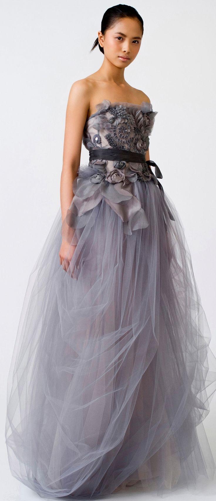 grey wedding ideas gray dresses for wedding Beautiful grey wedding dress by Vera Wang