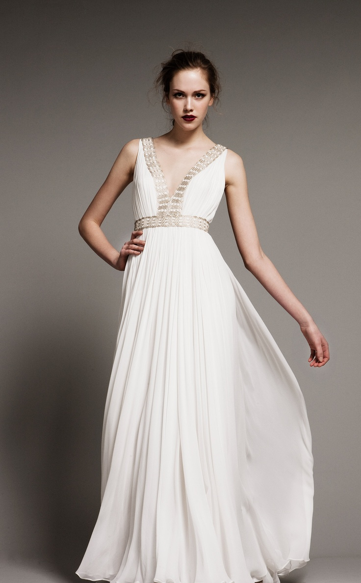 the greek wedding dress greek goddess wedding dress Wanna look like a Greek goddess Choose a Grecian styled wedding gown Flowing with airy silhouettes and from light fabrics these dresses are gorgeous