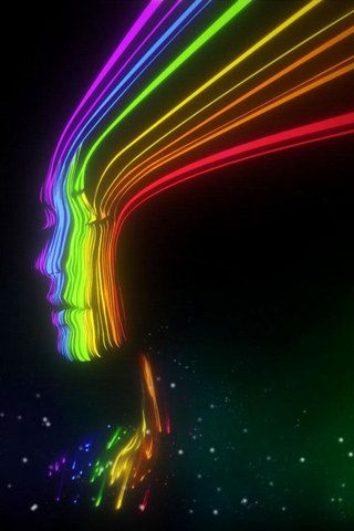 Cool Spectrum Girl iPhone Wallpaper HD. You can download this free iPhone Wallpaper for your ...