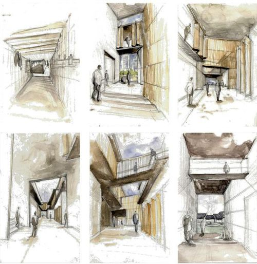 Exellent Architecture Design Sketches Find This Pin And More Intended