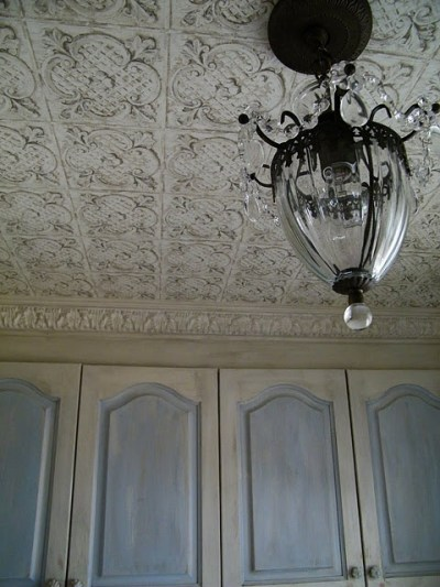 Tin ceiling wallpaper : cheaper than the real stuff. | diy | Pinterest | Wallpapers, Paint and ...
