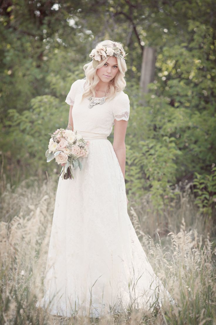 modest wedding gowns mormon wedding dresses Airy Lace Modest Wedding Gown themodestbride http www pinterest