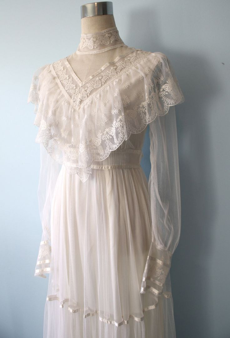 clothes wedding vintagenon whiteveils victorian wedding dress s Gunne Sax Wedding Dress Vintage Victorian Wedding Dress Romantic Ethereal Beauty