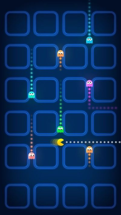Pacman Game Ghosts Speed Blur iPhone 5 Wallpaper | iPhone Wallpapers | Pinterest