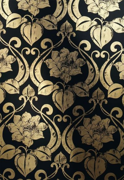 metal wallpaper with art nouveau pattern 1766-15 --- embroidery outline?--- | Pauper Princess ...