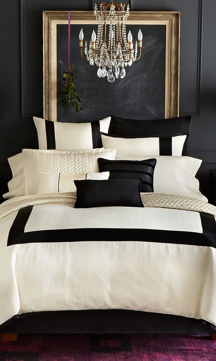 22 beautiful bedroom color schemes white bed black furniture