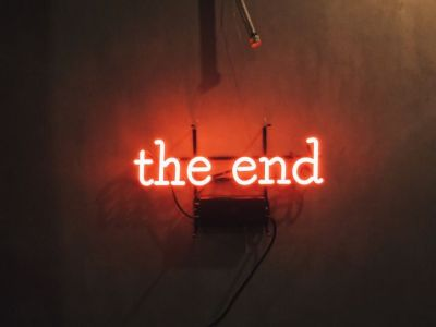The end | red aesthetic tumblr | Pinterest | Neon and Red aesthetic
