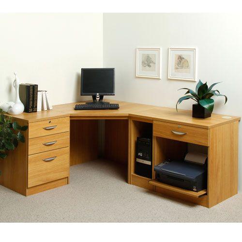 Grange Home Office Corner Desk And Printer Stand  Pinterest