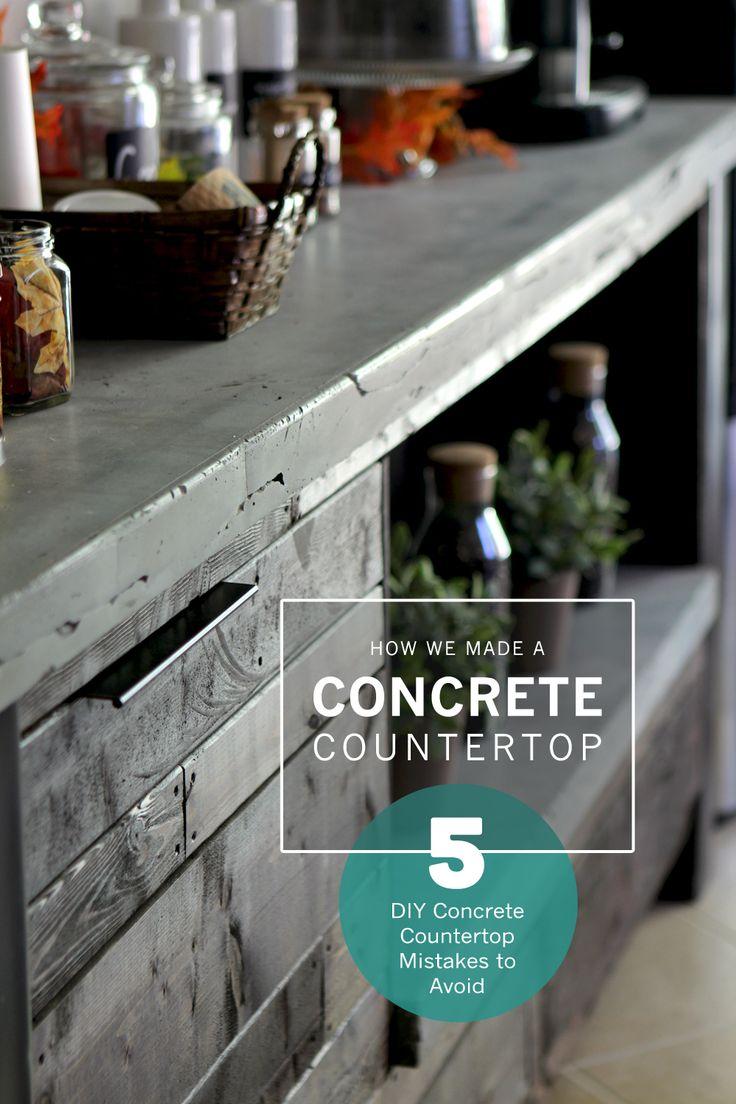 bar tops bar top kitchen tables DIY Concrete Countertop
