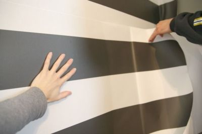Removable peel-and-stick wallpaper--how-to by House Tweaking | home: miscellany | Pinterest ...