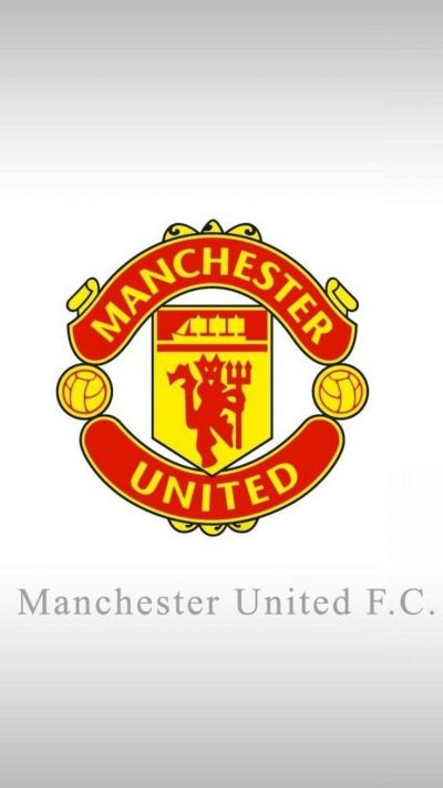 Apple iPhone 6 Plus HD Wallpaper - Manchester United Logo in white background #appleiphone6plus ...