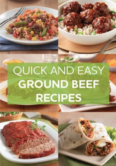 Quick and Easy Ground Beef Recipes | **Good Food**Good Drink**Good Friends** | Pinterest | Beef ...